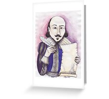 Shakespeare writing Greeting Card
