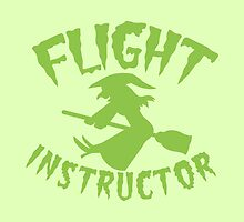 Witch on a broomstick FLIGHT INSTRUCTOR by jazzydevil