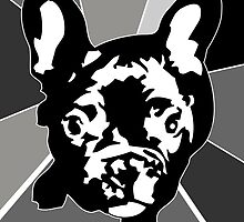 Black and White Frenchie by Doggenhaus