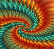 Spiral Fractal by Kitty Bitty