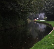 Narrowboat on canal at Chirk by turniptowers