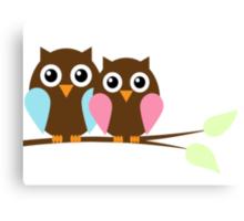 Owl love you Canvas Print