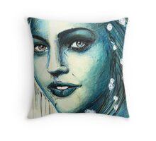 bluegirl Throw Pillow