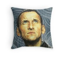 doctor who 9th Throw Pillow