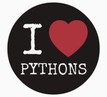 I Heart Pythons - USARK Fund Raiser Sticker! by Sarah Ball (TheMaggotPie)