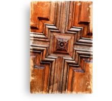Wood door Canvas Print