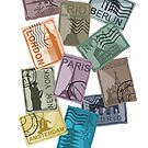 City Postage Stamps by pda1986