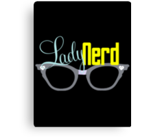 Proud LadyNerd | Grey Glasses Canvas Print