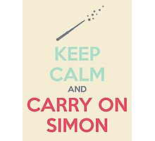 Keep Calm and Carry On Simon—Multi-Color Text Photographic Print