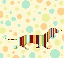 Fun Colorful Dachshund Tote Bag by Natalie Kinnear