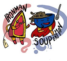 Ironman and Souperman by squidincart