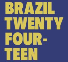 Team Brazil for the World Cup 2014 by everysaturday