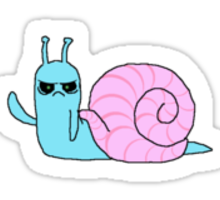 Angry Waving Snail Sticker