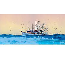 Fishing Trawler at Honeymoon Bay, Moreton Island, Australia Photographic Print