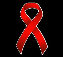 Classic AIDS Awareness Red Ribbon overlay by JimmyGlenn Greenway