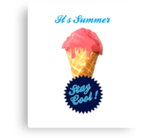 Ice Cream Summer Canvas Print