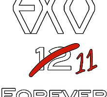 EXO 11 forever white letters by kpoplace