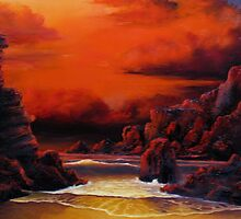 Red Sky Sunset by John Cocoris