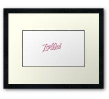 Zoella! Framed Print
