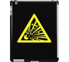 Indulgence explosion warning iPad Case/Skin