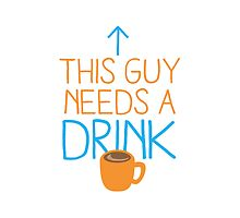 This guy needs a drink (coffee cup) by jazzydevil