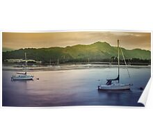 Boats at Deganwy Poster