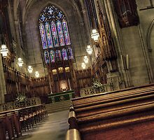 Duke Chapel Aisle by Kadwell