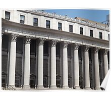 Famous Quotation, Classic Architecture of General Post Office, New York City Poster