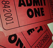 Vintage Admit One Film Ticket Poster (+card/prints) by Napy