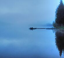 Lonely Lake in Mist by Skye Ryan-Evans