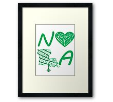 I heart NOLA (Green) Framed Print