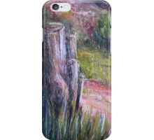 Fence Post in Flinders Ranges by Heather Holland iPhone Case/Skin