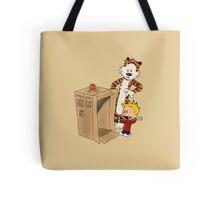 Calvin's new ride (tan) Tote Bag