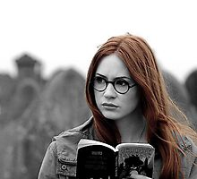 Amy Pond Black and White by Themaninthefez