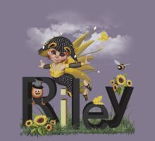 Sunflower - Kids Tshirt Art with Custom Name by Debra Richie