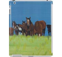 Herd of horses relaxing iPad Case/Skin