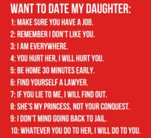 Ten rules for dating my daughter by MalcolmWest