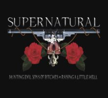 Supernatural hunting evil sons of bitches N raising a little hell Colt Guns by ratherkool
