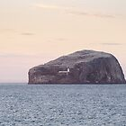 Pastel Bass Rock by Christopher Cullen