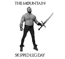 The Mountain Skipped leg day Photographic Print