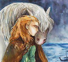 Leaving a friend by Synne Helene Hagen