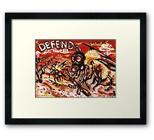 Defend the Hive Framed Print