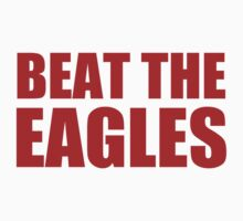 New York Giants - BEAT THE EAGLES - Red Text by MOHAWK99