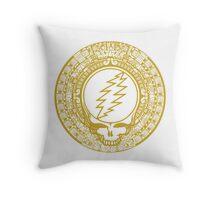 2012 Mayan Steal Your Face - GOLD Throw Pillow