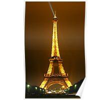 Eiffel At Night Poster