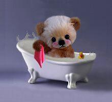 PRIVACY PLEASE..FLOFFY BEAR IS TAKING A BATH..THROW PILLOW by ╰⊰✿ℒᵒᶹᵉ Bonita✿⊱╮ Lalonde✿⊱╮