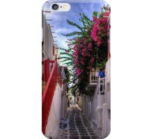 Flowers in a Mykonos Lane iPhone Case/Skin