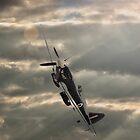 Spitfire Stormy Sky  by yampy