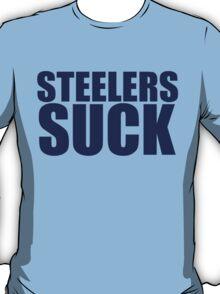 Tennessee Titans - STEELERS SUCK - Dark Blue Text T-Shirt