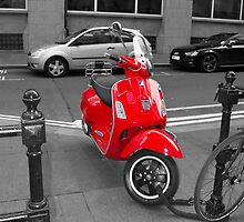 Red Moped by JoeForrest